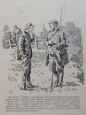 Fly Fishing Rod Angler OLD MAYFLY & FLASK OF WHISKY Antique Cartoon