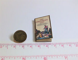1025# Miniaturbuch - Das Nibelungenlied - für Puppenhaus - Puppenstube im M 1:12