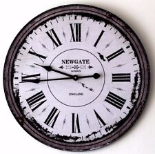 Large 60cm Wall Clock Shabby Vintage Style Home Bar Pub Hotel Office Decoration