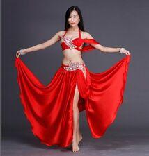 2016 Professional Belly Dancing Costumes Set Performance Diamond 2PCS Bra Skirt