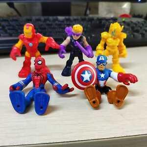 5pcs Playskool Heroes Marvel Ultron Sentry Hawkeye Iron Man Hasbro Figures Toys