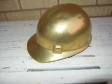 Vintage Jackson Aluminum Hard Hat Miner Bullard Type Sc 50 Gold Color Excellent