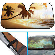 Palm Beach Sunset Car Sun Shade - Reflect UV Ray Heat Protects Window Dash