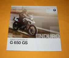 BMW G 650 GS 2010 prospectus brochure depliant catalog Prospect Folder broschyr