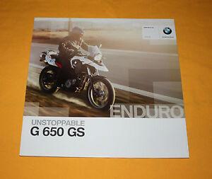 BMW G 650 GS 2010 Prospekt Brochure Depliant Catalog Prospect Folder Broschyr