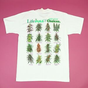 Vtg 90s Marijuana T-Shirt LARGE NOS Deadstock USA Hippie Grunge Hip Hop Rap Rare