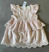 Baby Girl 18-24 Month Baby Gap Pink & White Striped Eyelet Easter Dress