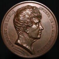 1833   Rouget De Lisle, Auteur De La Marseillaise Medal   Copper   KM Coins