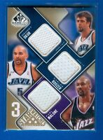 2009-10 Upper Deck SP Game-used Malone, Boozer, &Okur 3 Star Swatches SN 121/125