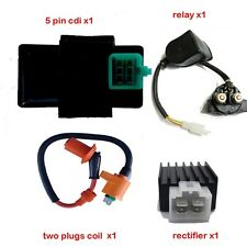 SOLENOID + CDI UNIT + COIL + REGULATOR 50cc 90cc 110cc 125cc ATV QUAD DIRT BIKE