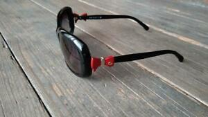 Auth CHANEL CC Logo Red Bow Black Sunglasses 5170-A Never Used from Japan F/S