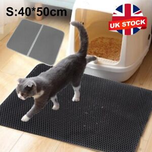 Foldable Double-Layer Cat Litter Mat Waterproof Pad Pet Rug Foam  Trapper