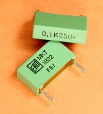12pcs  0.1uf .1uf 250V dc MKT1822-410/255 Metal Polyester Film Capacitor