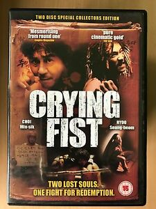 Crying Fist DVD 2005 Korean Martial Arts Film Movie Rare 2-Disc Special Edition