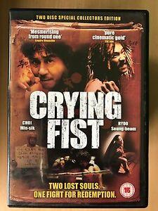 Crying Fist DVD 2005 Coréen Arts Martiaux Film Rare 2-Disc Édition Spéciale