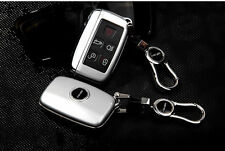 Silver Remote FOB Cover Case Shell Fit For Range Rover Freelander Smart Key
