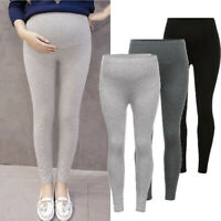 Women's Pregnant Maternity Pencil Stretch Pants Casual High Waist Trousers Soft