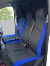 RENAULT TRAFIC VAN 2001-2014 - DELUXE BLUE PATCH VAN SEAT COVERS SINGLE + DOUBLE