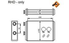 NRF Radiador de calefacción FIAT PUNTO DOBLO 54224