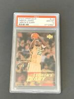 2003 Upper Deck LeBron James LeBron's Diary #LJ3 ROOKIE CARD RC PSA 10 GEM MINT