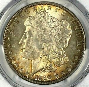 1890-S PCGS MS62 Morgan Silver Dollar $1 ~ Great Luster & Gorgeous Color!