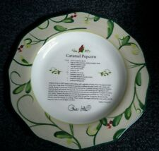 Paula Deen At Home Collector Plate Home for the Holidays Caramel Popcorn