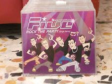 FIVE - ROCK THE PARTY single remix - 2001 - PROMOZIONALE cd slim case