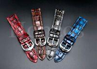 20 22MM Alligator Leather Watch Strap Band Buckle Clasp Vintage Fits Rolex Tudor