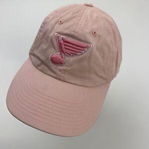 St Louis Blues Women's Pink Ball Cap Hat Adjustable Baseball Hockey