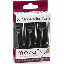 Mozaik Mini Tasting Forks 60 pcs Cocktail Party Appetizers Dessert Silver