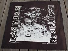 """Vintage 1990 Iron Maiden Banner Original Cloth Poster Tapestry Nikry 45 x 40"""""""