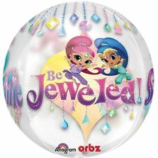 SHIMMER AND SHINE ORBZ CLEAR BALLOON PARTY DECORATION GENIE'S 4 SIDED DESIGN