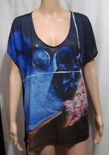 Star Wars New Hope Leia & Luke Shirt by Rock & Republic with Bling- Size XL