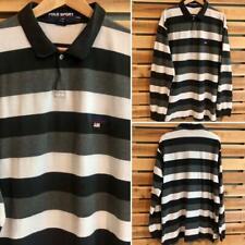 New listing VTG 90s Polo Ralph Lauren Sport Flag Logo Striped L/S Rugby Shirt Golf 2XL