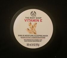 NEW! THE BODY SHOP Vitamin E Sink In Moisture SLEEP Mask 100ml 3.3oz NEW PACKING