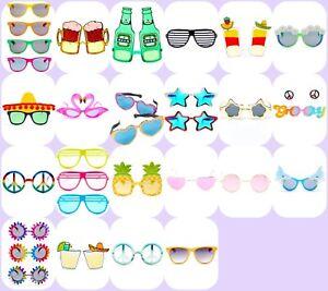 Novelty Summer Glasses Sunglasses Party Costume Fun Fancy Dress Summer Unisex