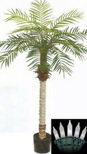 5 foot Artificial Phoenix Palm Tree in Pot & Holiday Christmas Lights Date Sago