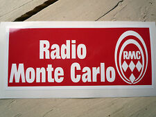 Radio Monte Carlo década de 1970 estilo AUTOCOLLANT STICKER RMC Citroen 2CV DS Fiat 500