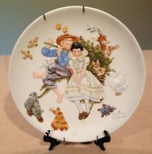 Gorham,Norman Rockwell Collector Plate,Four Seasons Series'Sweet Song So Young'