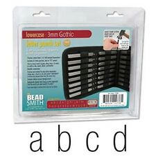 Arial/Gothic Lower Case Letter Stamp Set 3mm 27pcs