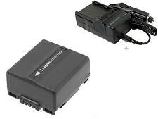 Battery + Charger for Hitachi DZ-GX5020A GX5020, DZ-GX5080A GX5080 DVD Camcorder