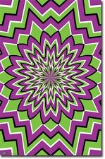 Fractal Eye Bender Green and Purple 22x34 Poster Art Print 6094T