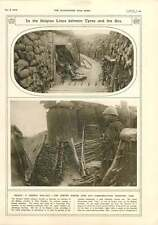 1916 Belgian Lines Between Ypres And Sea West Flanders Sentry Trench