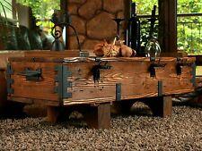 Alte Truhe Kiste Tisch shabby chic Holz Beistelltisch Holztruhe Couchtisch 14A