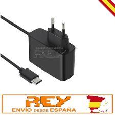 Cargador Corriente AC 2,4A Universal Moviles USB Tipo C Cargador Pared 1,5m n101