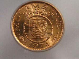 BU RED 1974 20 Centavos Mozambique ICG MS65 RD KM#88. #36