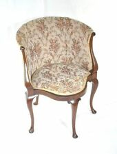 Mahogany Queen Anne Antique Armchairs