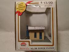 Model Power HO #580 Power Station Built-Up Model LIGHTED New In Original Box