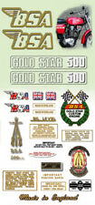 1972: B50SS - DECAL SET- BSA Gold Star
