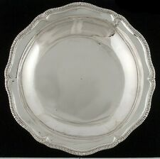 """Antique 1750-1800 18th Century Hand Hammered Silver Gadroon Bowl/Dish 12 3/4"""""""